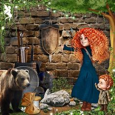 Once Upon A time A Warrior Princess by Kitty Scrap