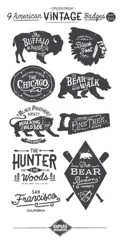 American Vintage Badges Part Two http://www.behance.net/opusnigrum