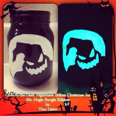Glow-in-the-Dark Nightmare Before Christmas Halloween Jar, Oogie Boogie Man Edition by, Tina Listro