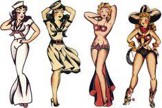Sailor Jerry, Cosplay Girls, Vulture Graffix T Shirt Design, vulturegraffix.onlineshirtstores.com