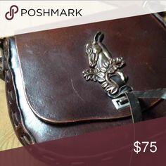 Tony Lama purse- genuine leather Super unique bag Tony Lama Bags Shoulder Bags
