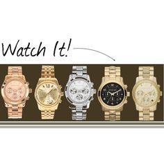"""""""Watches"""" by kerry-searle on Polyvore http://www.polyvore.com/watches/set?id=103552962"""