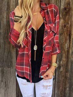Red Plain Long Sleeve Shirt