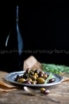 Marinated Olives with Garlic, Rosemary and Thyme | An Ancient Fruit | Gourmande in the Kitchen