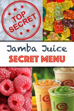 All 50 of the Jamba Juice Secret Menu smoothie recipes right here. What they are, our top 5 favorites, how to order, and how to make them at home. Are you thirsty for more? Read on. Jamba Juice Recipes, Healthy Blender Recipes, Nutribullet Recipes, Green Smoothie Recipes, Strawberry Smoothie, Healthy Smoothies, Jelly Recipes, Healthy Juices, Water Recipes