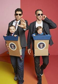 Baby Bjorn Halloween Costumes That Prove Having a Kid Is Worth It Candidates and the secret service. Get this and more family halloween costume ideas here.Candidates and the secret service. Get this and more family halloween costume ideas here. Costume Halloween, Cute Costumes, Halloween Kids, Halloween Crafts, Costume Ideas, Baby Boy Halloween Costumes, Baby Costumes For Boys, Family Of 3 Costumes, Creative Baby Costumes