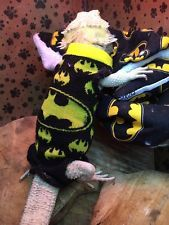 XLARGE BATMAN PRINT DESIGN SLEEVELESS BODY SHIRT 4 MALE BEARDED DRAGON