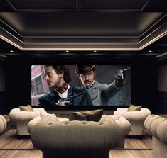 Stunning high-end ICE Design private cinema, via Genesis Technologies. http://www.homecontrols.com