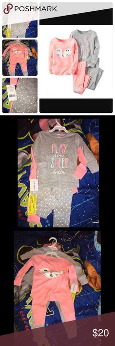Carter's Girl 4 Piece Pajama Set sz 12 Months NWT! Very Comfortable NO TRADES   *Feel Free to ask any question. *Very Beautiful and Stylish. *Pet and Smoke Free Home. *Combined Shipping   P.S. Super-Fast Shipping ... Thanks :)! Carter's Pajamas Pajama Sets