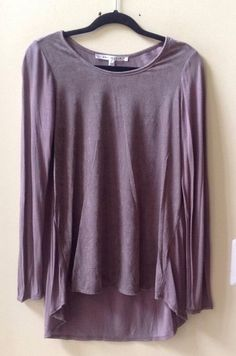 NWT MAX STUDIO WOMEN'S SOLID BROWN POLY/RAYON/SPANDEX LONG SLEEVE BLOUSE SIZE M #MaxStudio #Blouse