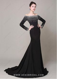 Brilliant Stretch Charmeuse Off-The-Shoudler Neckline Mermaid Formal Dresses 7bb96042aa7e