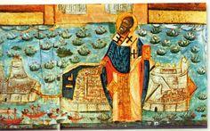 Το θαύμα του Αγίου Σπυρίδωνα στην Κέρκυρα την Κυριακή των Βαΐων Vintage World Maps, Painting, Painting Art, Paintings, Painted Canvas, Drawings
