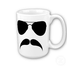 Mustache Cup