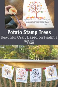 The fall colors have been less than spectacular this year, but that hasn't stopped us from celebrating fall! These potato print trees based on Psalm 1 are the perfect way to celebrate the beauty of fall. (And my kids were AMAZEDthat you could use a potato to make a stamp. Sometimes, it really is the […]