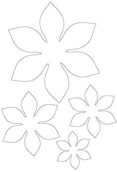 Felt Flower Template, Paper Flower Patterns, Paper Flowers Diy, Felt Flowers, Flower Crafts, Pattern Paper, Fabric Flowers, Fleurs Diy, Spring Wedding Flowers