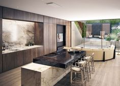 CGarchitect - Professional 3D Architectural Visualization User Community | Town-house Kitchen & Snug