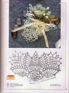 World crochet: Decoration 23 Crochet Buttons, Crochet Motif, Crochet Doilies, Crochet Flowers, Knit Crochet, Sachet Bags, Barbie Accessories, Crochet Home, Tricot