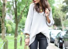 cosy jumper and jeans