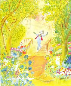 Sempe <3<3- this is how I feel every spring.  So optimistic!  Yes!  This year I truly will weed and water every day!