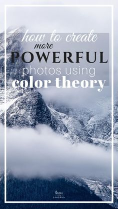 Color Theory is just another tool like composition or depth of field. Adding color theory just helps to create a stronger, more powerful image overall.