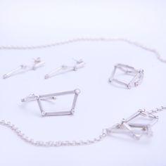 Universumi jewelry set silver 925. Picture: Pihla Liukkonen
