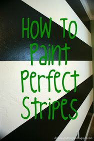 Dimples and Tangles: How I Painted a Perfectly Striped Wall {Tutorial}