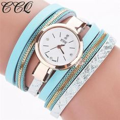 CCQ Women's Casual Fashion Analog Quartz Leather Strap Bracelet Watch