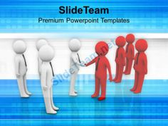 Two Teams Shaking Hands Business PowerPoint Templates PPT Themes And Graphics 0213 #PowerPoint #Templates #Themes #Background