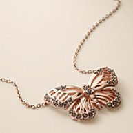 Glitz Butterfly Necklace  $ 34    Our Glitz Butterfly necklace offers just the right amount of shine. The crystal-embellished, rose gold-tone butterfly pendant and chain are a charming addition to any look.