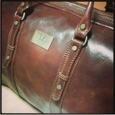 Francoforte TL140935 Borsa da viaggio in pelle - Exclusive Leather Weekender Travel Bag - Tuscany Leather