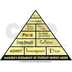 Maslow's Student Nurse Hierarchy!!!