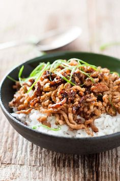 Using minced pork means this dish takes all of 10 minutes to cook. Recipe here.