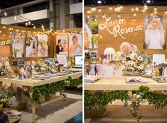Gorgeous setup! Amazing inspiration for bridal show booth to get noticed! (And hired!)                                                                                                                                                                                 More