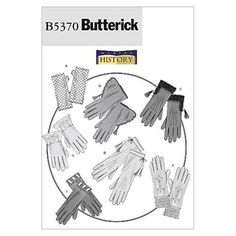 Butterick B5370 Historical Gloves All Sizes