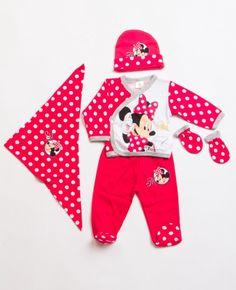 Disney MN5550 Minnie Mouse Lisanslı bebek 5li hastane çıkış seti