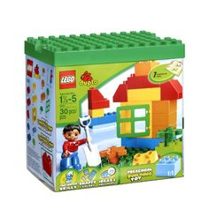 Give your little one the opportunity to experience engaging creative play with this My First Lego Duplo Set. Chunky bricks are easy to put together and pull apart. Includes window male figure 2 flow...