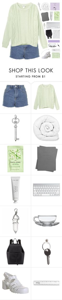 """""""you're like a wasted dream"""" by moonlightxbby ❤ liked on Polyvore featuring Topshop, Monki, Brinkhaus, H&M, Shinola, Byredo, Mansur Gavriel, Maison Margiela, JuJu and women's clothing"""