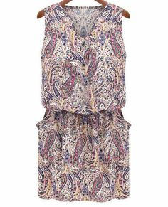 Shop Multicolor Sleeveless Floral Print Dress online. Sheinside offers Multicolor Sleeveless Floral Print Dress & more to fit your fashionable needs. Free Shipping Worldwide!