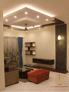 65 New False Ceilings with Cove Lighting Design for Living Room - Page 65 of 71 Kitchen Ceiling Design, Simple False Ceiling Design, House Ceiling Design, Ceiling Design Living Room, Bedroom False Ceiling Design, Home Ceiling, Living Room Designs, House Design, Bedroom Ceiling