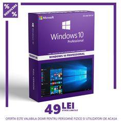 Windows 10 Professional   32/64 bit   Multilingva   Licenta Digitala Windows 10, Microsoft, Software, Desktop