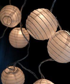 Loving this White Paper Lantern String Light on #zulily! #zulilyfinds