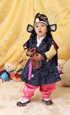 Korean boy in traditional clothing