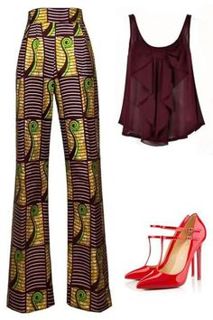 Highwaist ankara ~Latest African Fashion, African Prints, African fashion styles, African clothing, Nigerian style, Ghanaian fashion, African women dresses, African Bags, African shoes, Kitenge, Gele, Nigerian fashion, Ankara, Aso okè, Kenté, brocade. ~DKK