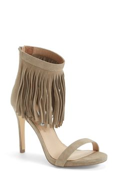 Trending for fall: Fringe! Love that you can wear these suede nude sandals in almost any season. Pair it with a pair of jeans or a dress for a trendy look.