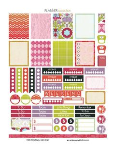 FREE Summer Printable Planner Stickers by Planner Addiction