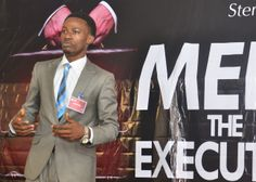 "Rufai Oluyemi making his presentation at ""Meet the Executive"""