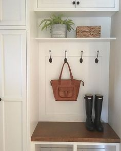 The mudroom is clean {that is, until the kids get home from school!} We expanded our laundry room a few years ago and had this area added. It's a lifesaver and it serves as our drop zone. It is usually home to {many} coats, backpacks, work bags, purses, and library books. More often than not, that beautiful old wood bench is covered. So today, I am embracing the cleanliness of it all! #dropzone #mudroom #mudroombench #laundryroom #customcabinets @noondaycollection #purposeinstyle…