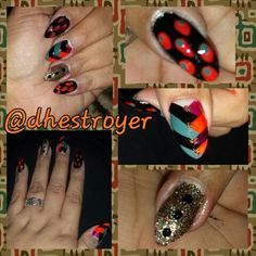 The things I do late at night when I can't sleep... #autum / #fall #nailart #lines #dots #glitter #colorful #colors #black by #blackheart #vintagevelvet #curatorscrimson & # iconicorange by #fingerpaints #letmeentertainyou by #OPI #twinklelights by #chinaglaze @chinaglazeofficial #lovewhatido #mylife #myworld #myart