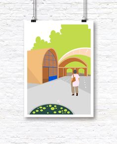 Illustrations Inspired by the city of Pondicherry and composed with a self derived colour Palette which is true to the place.
