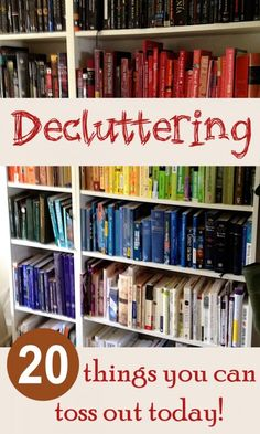 Use these decluttering ideas to declutter and organize your home. 20 things you can throw out right now!